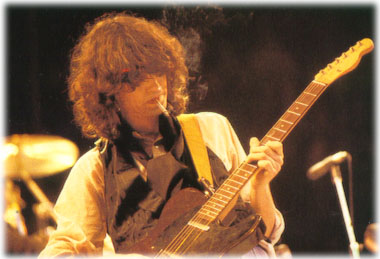 Jimmy Page with his custom telecaster